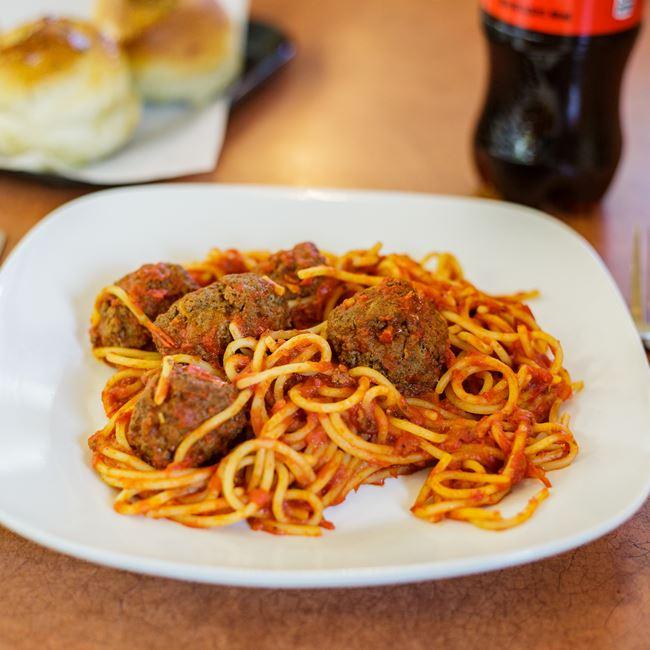Spaghetti with Meatballs at Pizza Di Roma