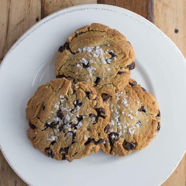 Chocolate Chip and Sea Salt Cookies at Wild Tomato Wood-fired Pizza and Grille