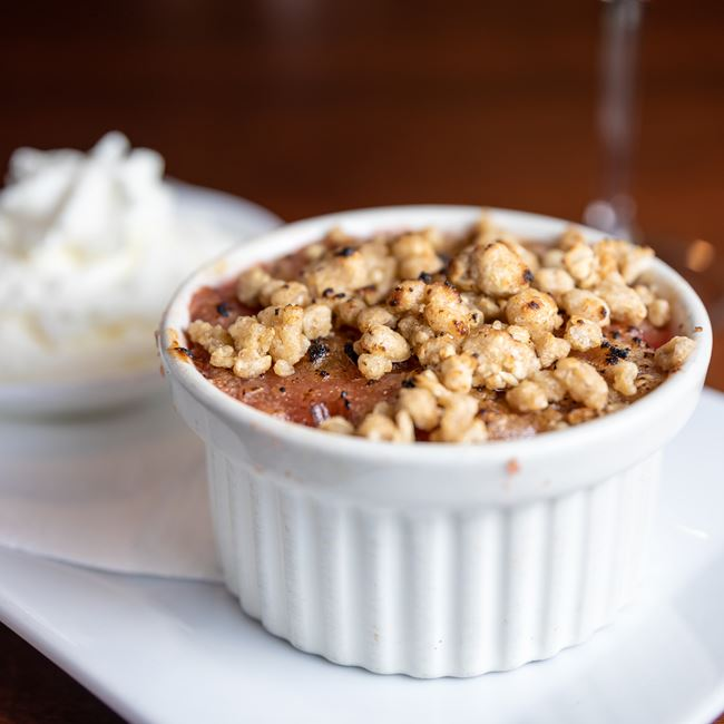 House Fruit Cobbler at Gardina's Wine Bar and Cafe