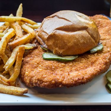 Cheese Crusted Iowa Style Pork T Sandwich