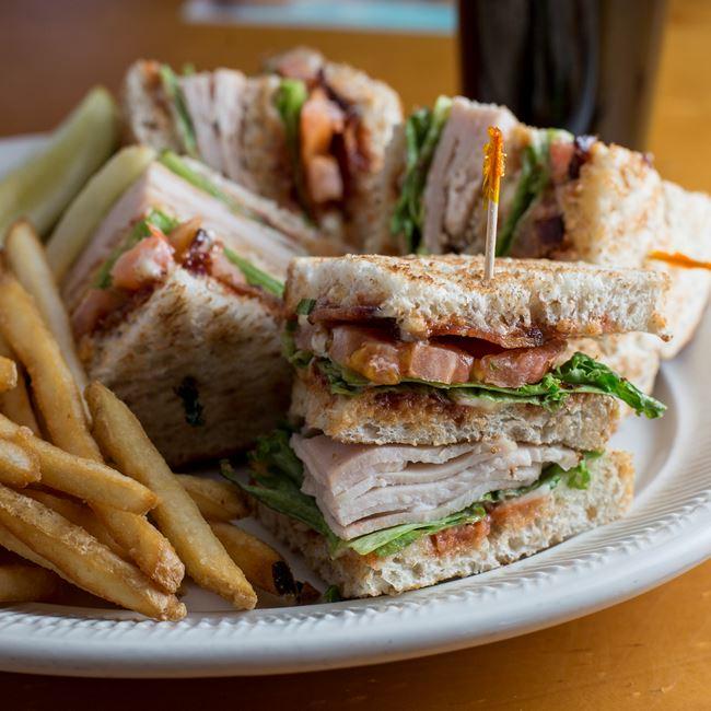 Turkey Club Sandwich at Husby's Food & Spirits