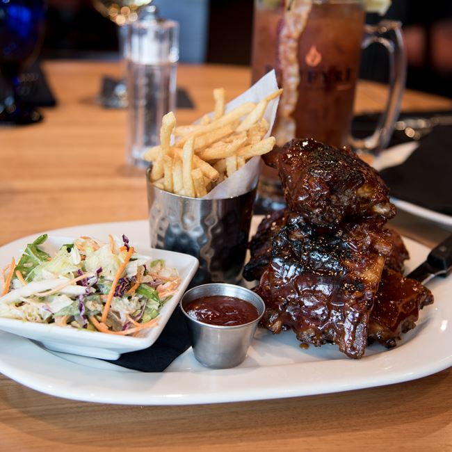 Baby Back Ribs at Bonfyre American Grille