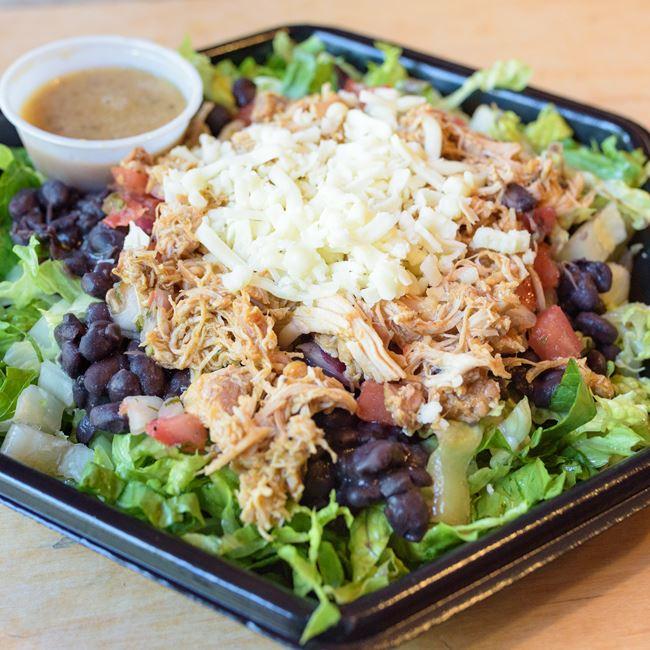 Shredded Chicken Salad at BTB Burrito