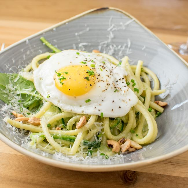 Pesto Pasta at Everly