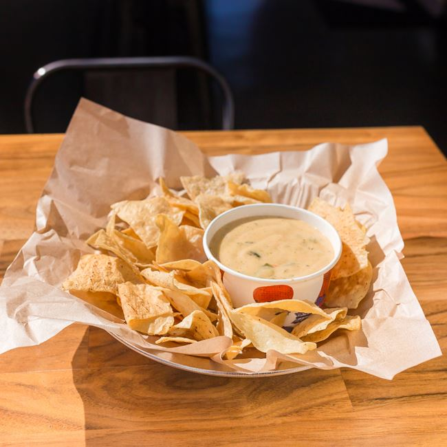 Chips and Queso at QDOBA Mexican Eats