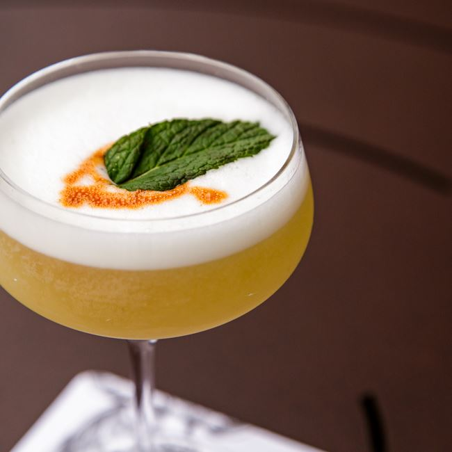 Pisco Sour at Mason Street Grill