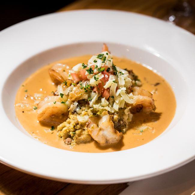 Shrimp & Grits at Tarrant's Cafe