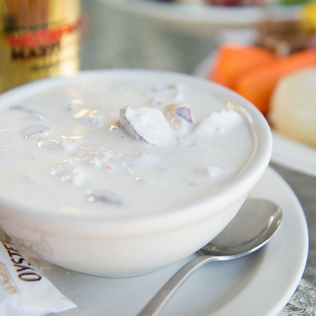 Door County Chowder at Waterfront Mary's Bar & Grill