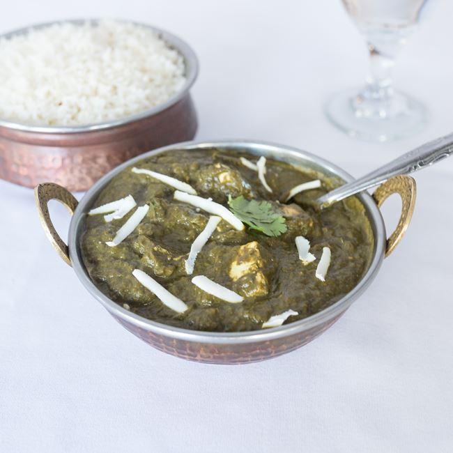 Saag Paneer at Bollywood Grill