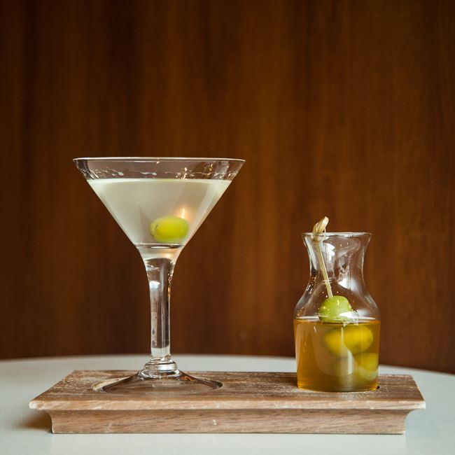 Dirty Martini at The Corner Office Restaurant + Martini Bar
