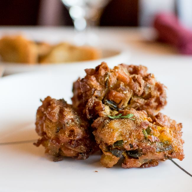Vegetable Pakora at Amber Indian Cuisine