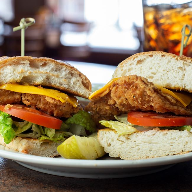 Mama Pump's Fried Chicken Sandwich at Carrington Pub & Grill