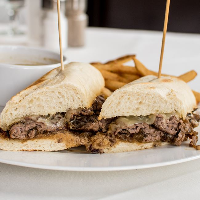 French Dip at Johnny Delmonico's Steakhouse
