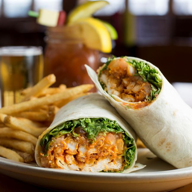 Buffalo Chicken Wrap at Husby's Food & Spirits