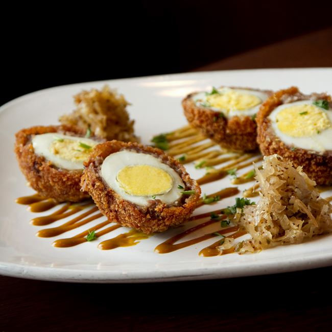 Wisconsin Scotch Eggs at Sprecher's Restaurant & Pub