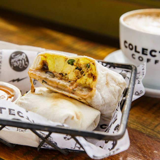 Chorizo Breakfast Burrito at Colectivo Coffee