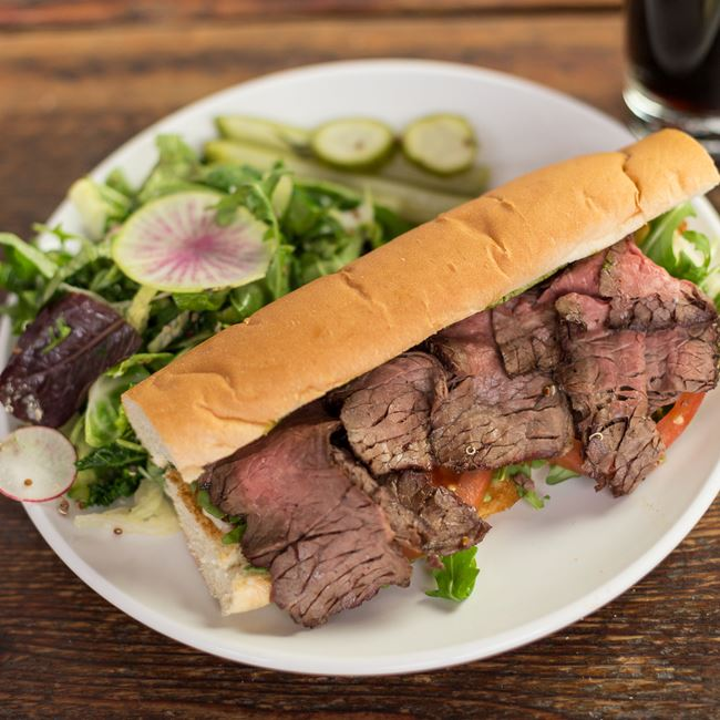Steak Sandwich at Fuel Café