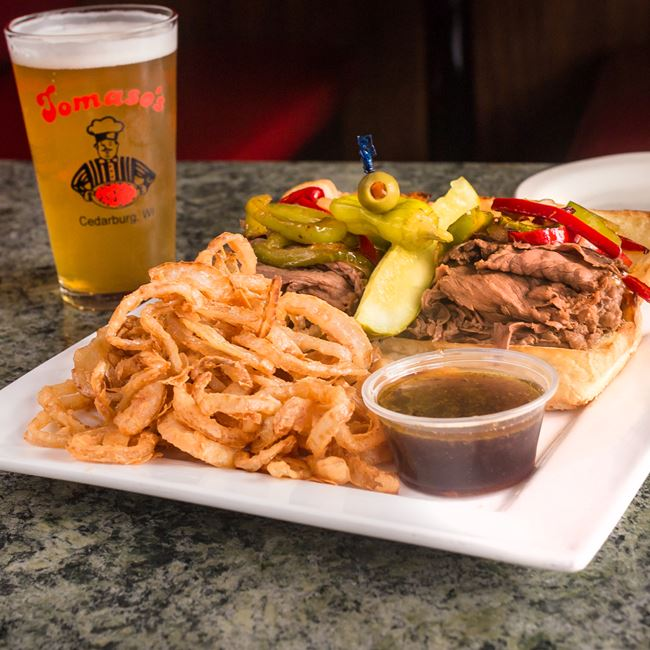 Italian Beef Sandwich at Tomaso's