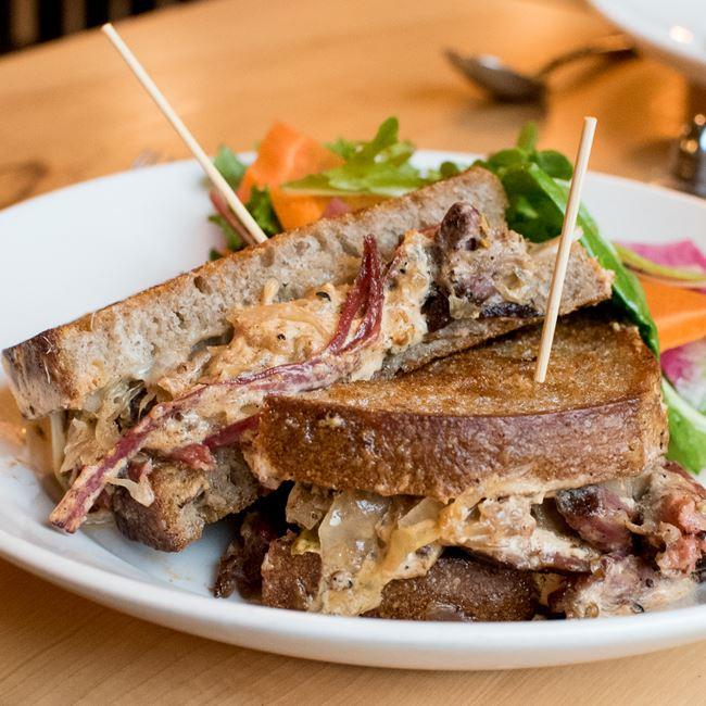 Reuben Sandwich at Oliver's Public House