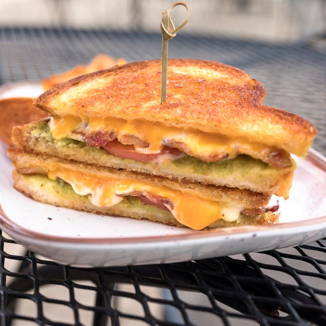 Guacamole Bacon Grilled Cheese Sandwich at Dockside Tavern Food & Spirits