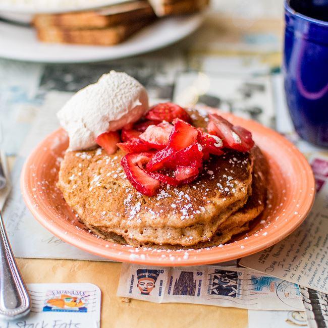 Sweet Potato Oatmeal Pancakes