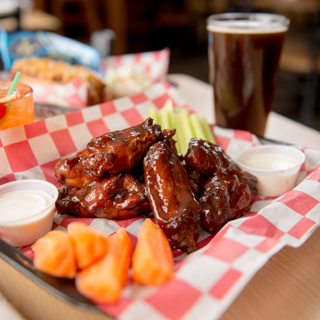 Smoked Chicken Wings at Casey's BBQ & Smokehouse