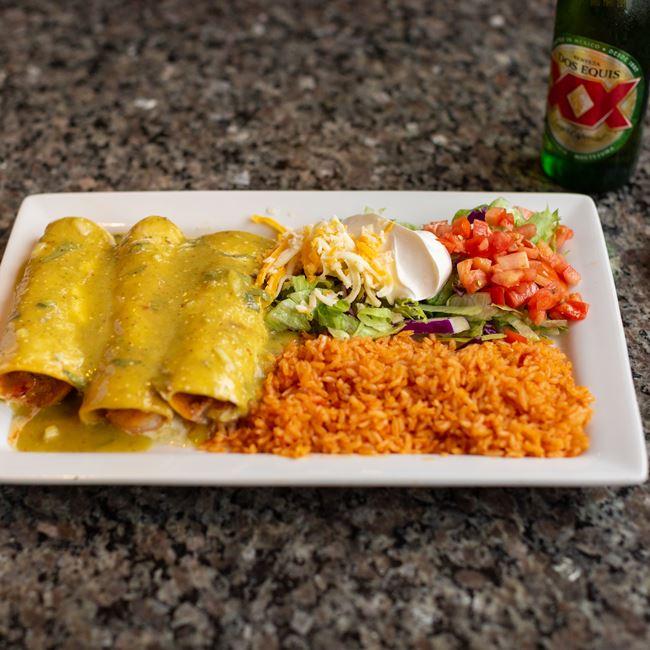 Enchiladas Lawrence at El Mezcal Mexican Restaurant