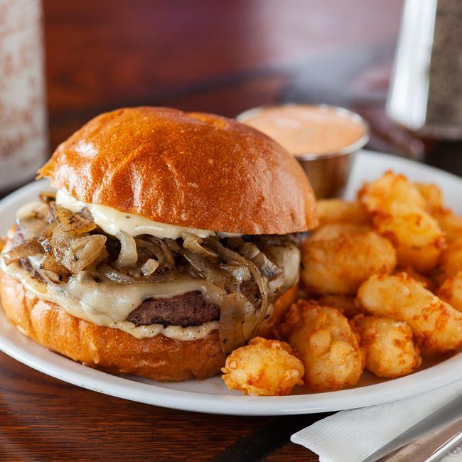 Garlic Guitar Lick Burger at Sweet Home Wisconsin