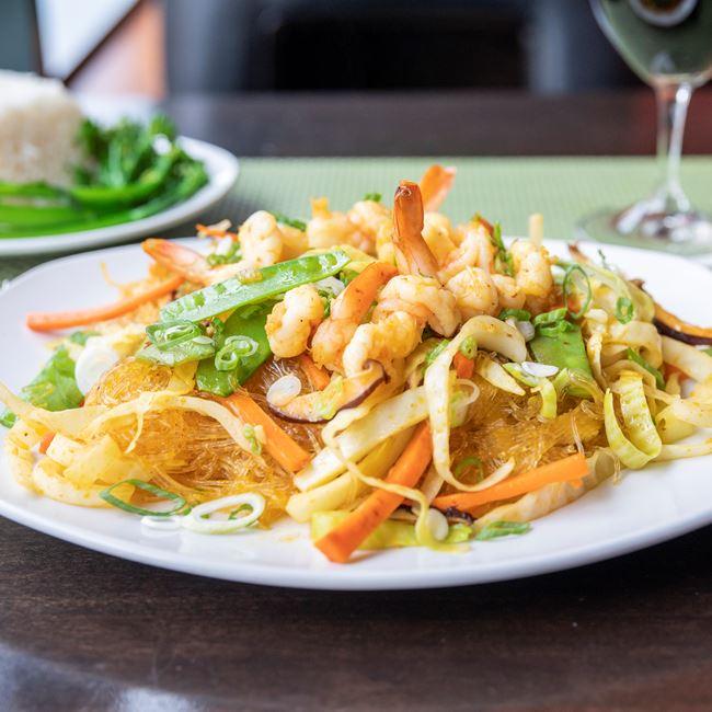 Shrimp Pancit Sotanghon at Manila Resto
