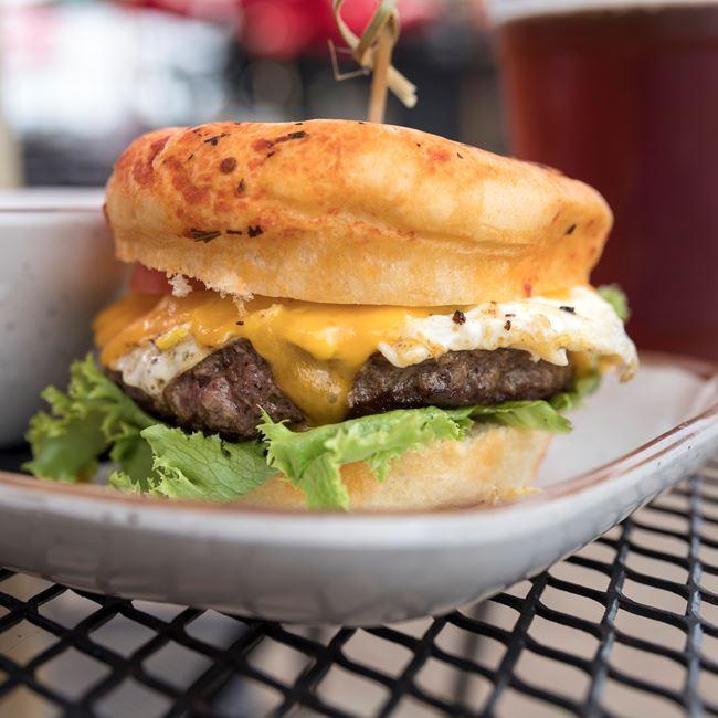 Farmhouse Burger at Dockside Tavern Food & Spirits