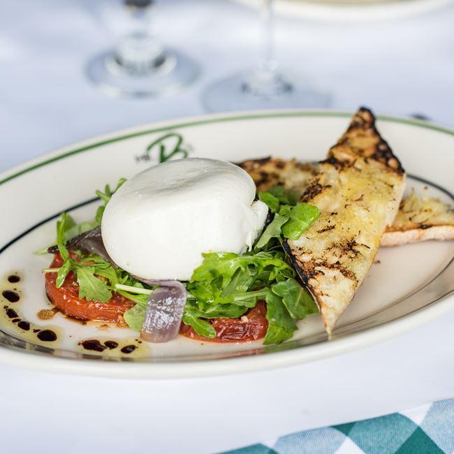 Burrata and Tomato Salad at Mr. B's - A Bartolotta Steakhouse