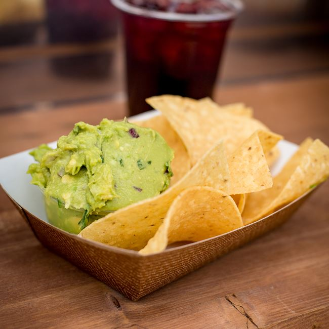 Chips and Guacamole at Mazorca Taco Truck